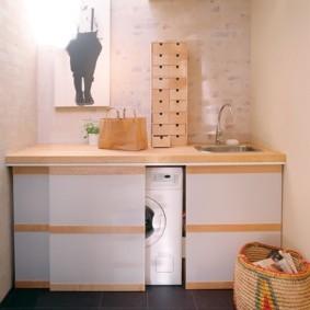 Ткмба с раздвижными створками для стиральной машинки