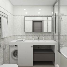 Дизайн ванной в пастельных тонах