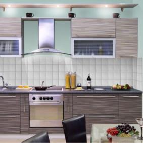 материалы для кухонного гарнитура фото интерьера