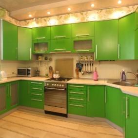 материалы для кухонного гарнитура фото оформление