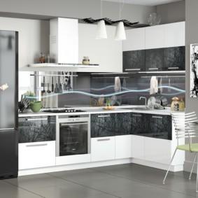 материалы для кухонного гарнитура идеи оформления