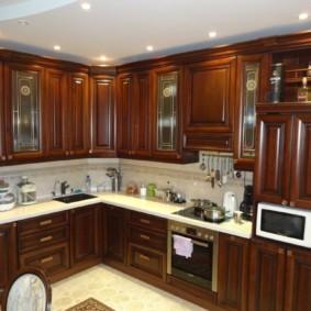материалы для кухонного гарнитура дизайн фото