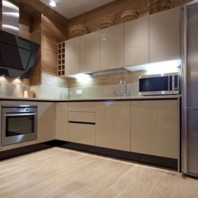 материалы для кухонного гарнитура фото интерьер