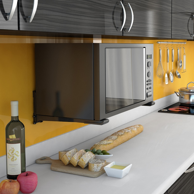 микроволновка на кухне идеи