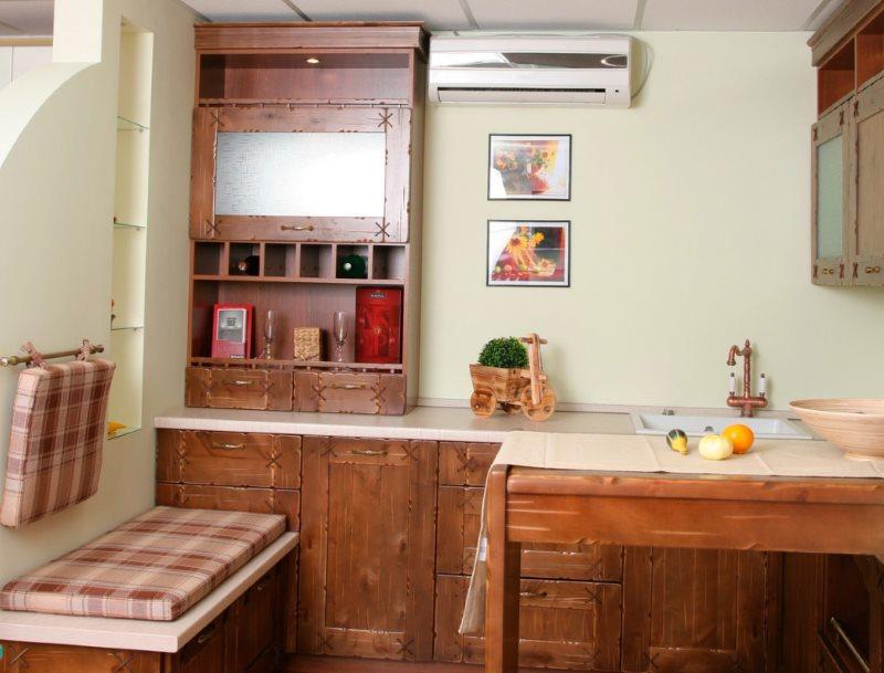 Мини-кухня в стиле кантри