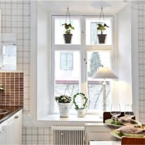моющиеся обои для кухни дизайн идеи