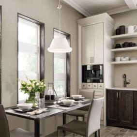 моющиеся обои для кухни фото дизайн