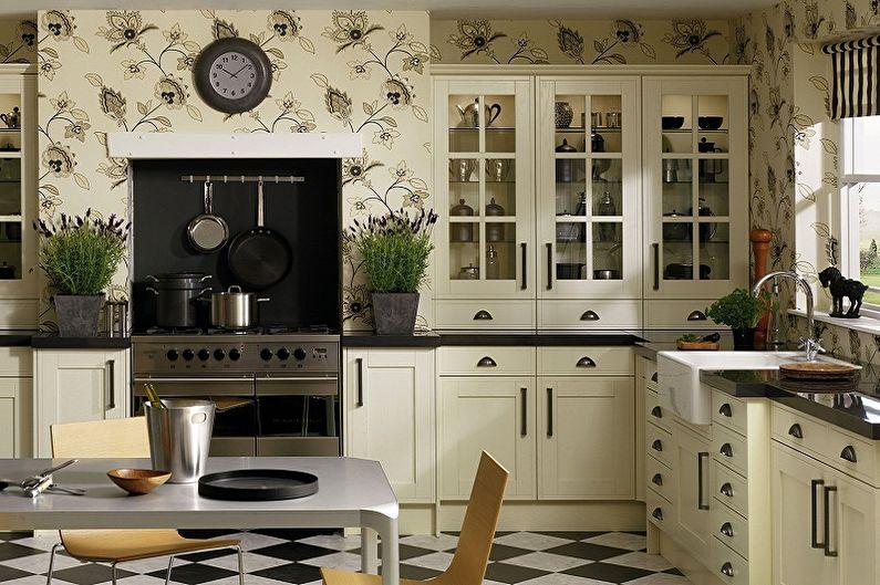 влагостойкие обои для кухни идеи дизайн