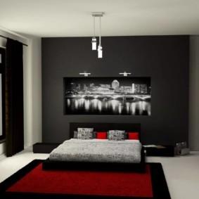 мужская спальня декор