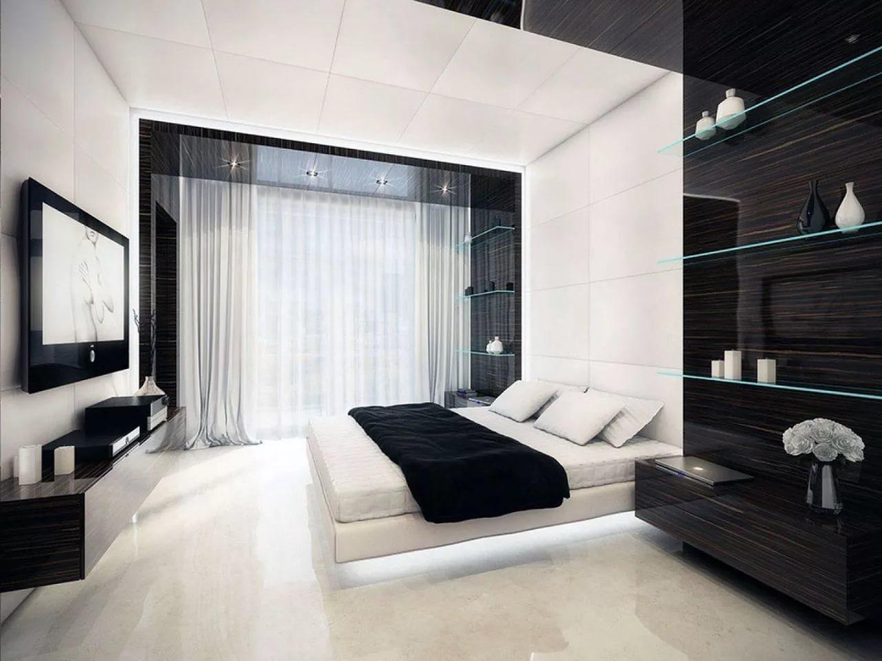 мужская спальня фото оформления