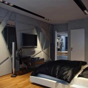 мужская спальня идеи декор