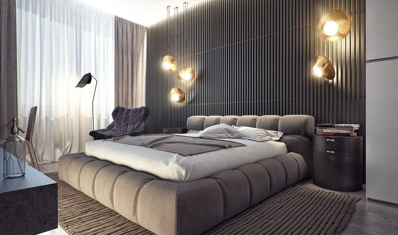 мужская спальня идеи виды