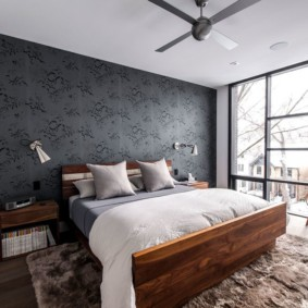 мужская спальня оформление фото