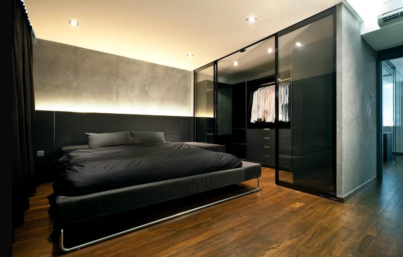 мужская спальня оформление