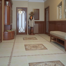 напольная плитка для кухни и коридора декор