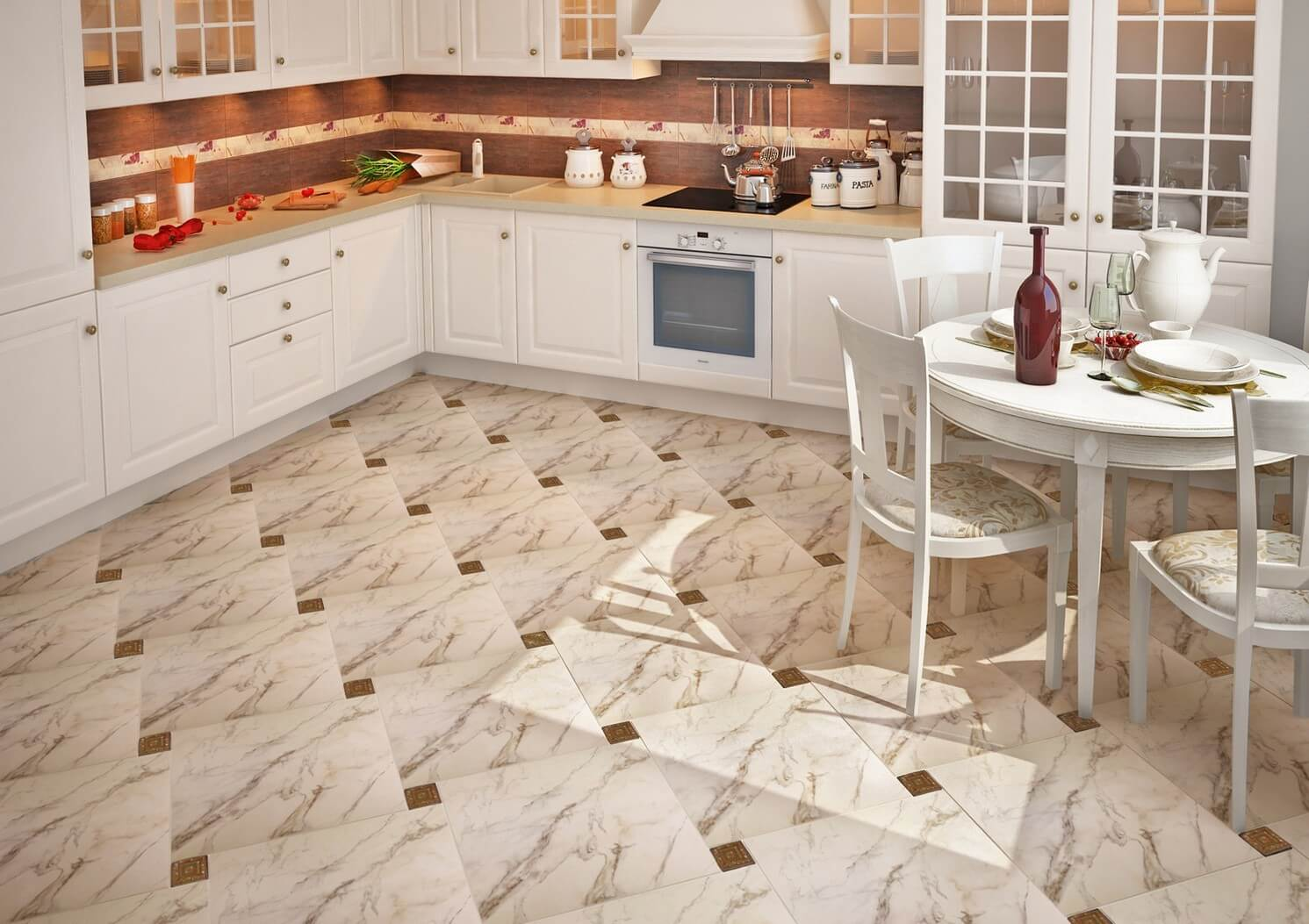 Дизайн плитки на кухне картинки