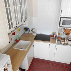 напольная плитка для кухни и коридора дизайн
