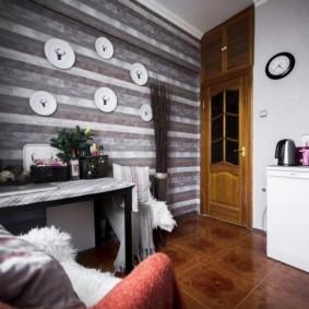 напольная плитка для кухни и коридора дизайн идеи