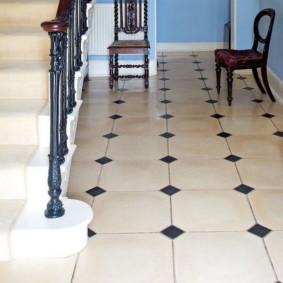 напольная плитка для кухни и коридора фото декор