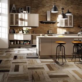 напольная плитка для кухни и коридора фото варианты