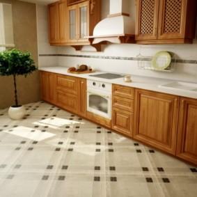 напольная плитка для кухни и коридора фото видов