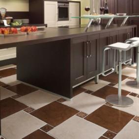 напольная плитка для кухни и коридора фото виды