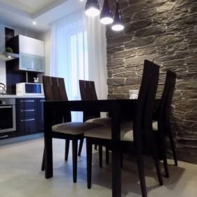 напольная плитка для кухни и коридора идеи