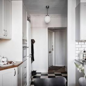 напольная плитка для кухни и коридора идеи дизайн