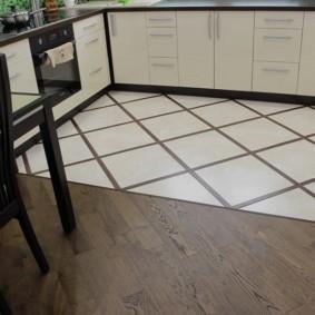 напольная плитка для кухни и коридора идеи интерьера