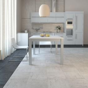 напольная плитка для кухни и коридора идеи оформления