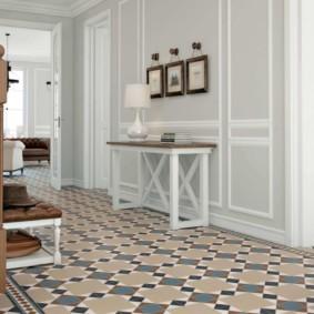 напольная плитка для кухни и коридора идеи варианты
