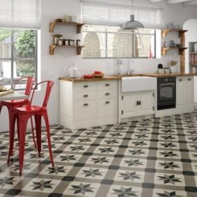 напольная плитка для кухни и коридора идеи виды