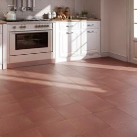 напольная плитка для кухни и коридора интерьер