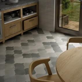 напольная плитка для кухни и коридора интерьер фото