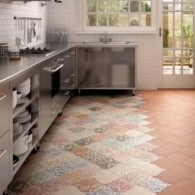 напольная плитка для кухни и коридора оформление