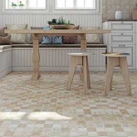 напольная плитка для кухни и коридора варианты
