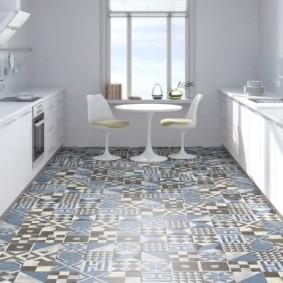 напольная плитка для кухни и коридора варианты фото
