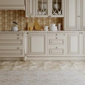 напольная плитка для кухни и коридора виды