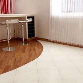 напольная плитка для кухни и коридора виды декора