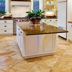 напольная плитка для кухни и коридора виды дизайна