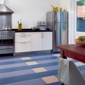 напольное покрытие для кухни дизайн идеи