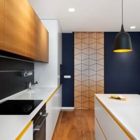 напольное покрытие для кухни фото интерьера