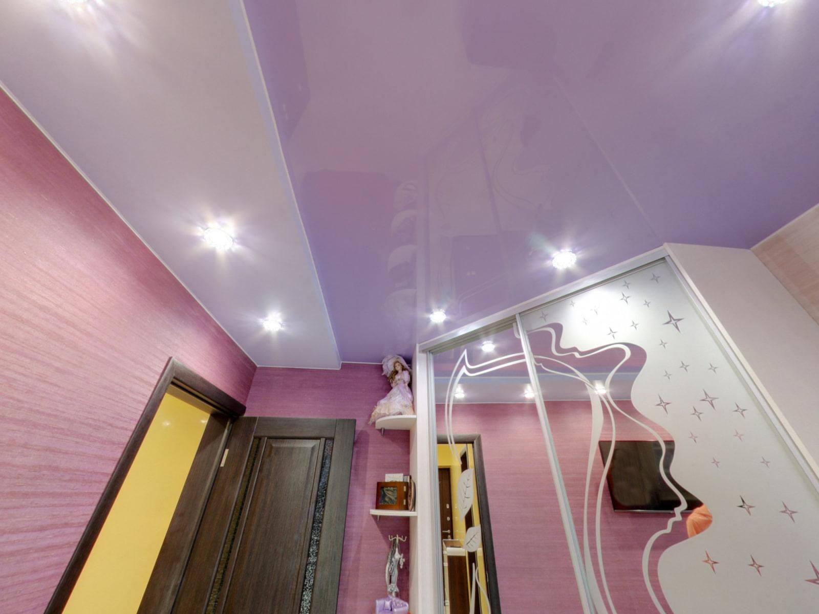 натяжной потолок в коридоре декор идеи
