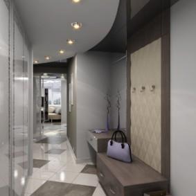 натяжной потолок в коридоре дизайн идеи