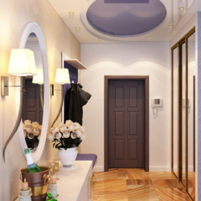 натяжной потолок в коридоре фото интерьера