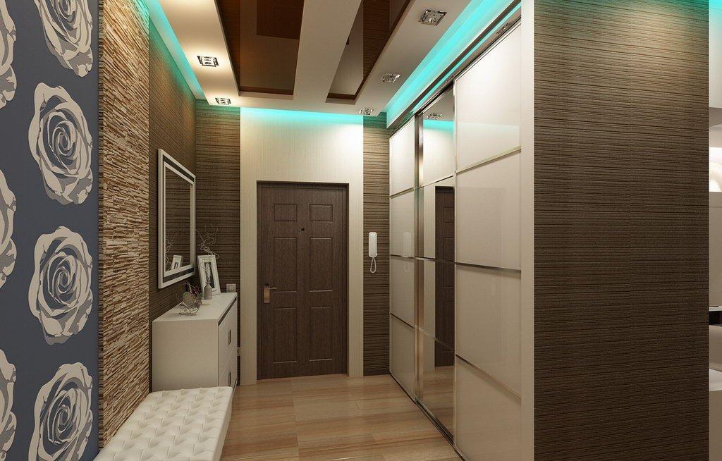 натяжной потолок в коридоре фото оформления
