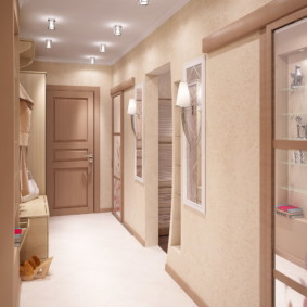 натяжной потолок в коридоре идеи декор
