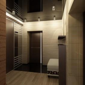натяжной потолок в коридоре идеи интерьер