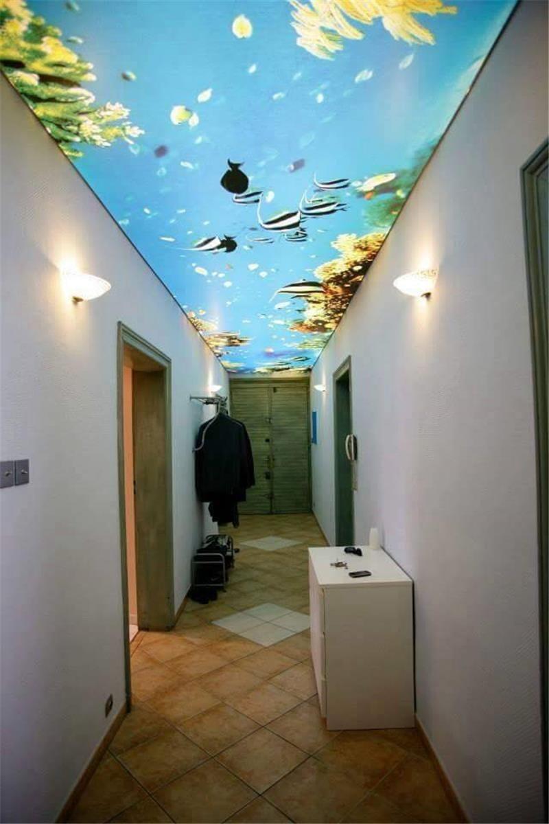 натяжной потолок в коридоре идеи видов