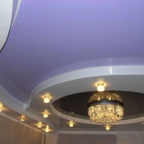 натяжной потолок в коридоре фото дизайна